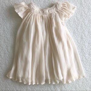 Baby GAP ivory flutter dress